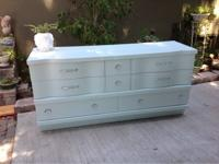 Gorgeous mid century all wood 8 drawer dresser. It's