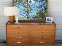 Awesome mid century 8 drawer dresser with mirror made