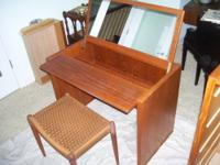 Beautiful Mid Century Modern Teak Vanity The Vanity is