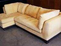 very high quality modern low 2 piece sectional sofa -