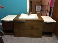 3-piece washroom sink/vanity set. Adjustment of