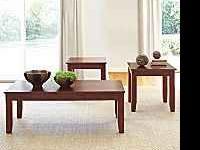 Beautiful New Coffee and End Table Set (Cherry).*