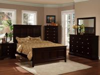 Stunning Espresso Pottery Barn style bed is ideal to