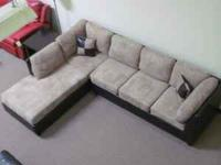 BEAUTIFUL NEW MICROFIBER SECTIONAL SOFA - STILL IN