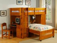Brand name New- Very great Solid OAK Loft Bunk beds