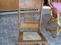 I have a lovely strong oak Victorian rocker for sale.