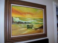 This listing is for an Oil on Canvas Painting of a