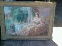 Two victorian looking paintings. Mexican frames. Will