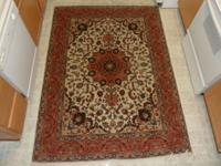 THIS IS A BEAUTIFUL HAND-MADE WOOD TABRIZ DESIGN
