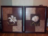 I have two sets of pictures for sale. The large brown