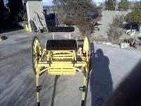 Beautiful Yellow Pony Cart measures 4ft. shafts 29