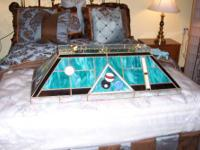 Beautiful Stained Glass Pool Table light Great Price!