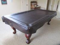 Asking Price-$1,500 Very nice pool table 6 Pool Sticks