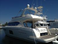 Beautiful 2011 Prestige 60 Yacht with low engine hours.