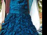 for sale a beautiful prom dress worn once. size 6