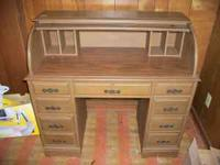 Beautiful roll top desk for sale. Great condition.