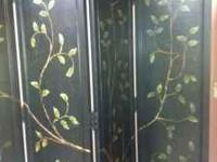 This room divider is beautiful with hand painted