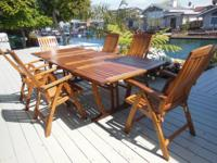 I'm selling this Beautiful SOLID  Grade A  Teak patio