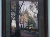 This is a beautiful picture of the Salt Lake Temple in