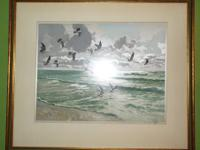 Beautiful seaside etching original!!! by famous German