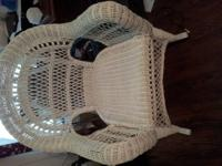 beautiful wicker rocking chair in great used condition
