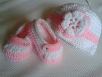Cute handcrafted crochet child shoes, fantastic for