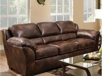 brand new from dealer. Bonded leather. Simmons brand