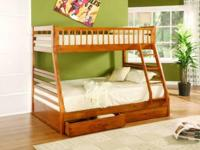 Brand New- Solid wood twin over full bunk bed with