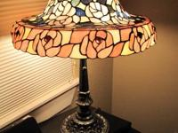 This Stained Glass Lamp is lovely and it's in excellent