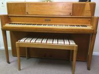 UP FOR SALE IS A BEAUTIFUL CLEAN STEINWAY UPRIGHT PIANO
