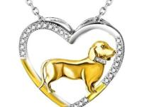 Beautiful sterling silver dog breed jewelry available