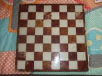 This listing is for a stunning tan stone chess or