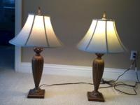 Set of two versatile table lamps for sale. Each lamp