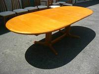 "Duraland Teak Dining Table. Dimensions: 54.5"" Long"