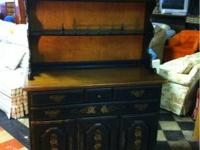 Beautiful black and dark wood 2 piece Temple Stuart