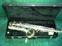 Beautiful Silver Tenor Saxophone for sale!! Excellent