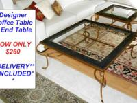 Here is a Beautiful Three Piece Designer Iron Glass Top