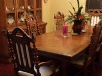 Beautiful and Timeless strong wood oak dining space