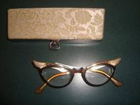 Gorgeous two-tone metal antique Bronze gold glasses