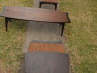 Vintage 1970's coffee and end tables, theses table were