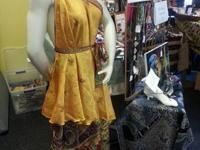 I'm offering vintage layered cover skirts made from