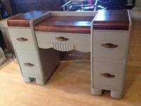 Gorgeous Vintage Falls Desk. Original Hardware. Asking