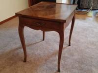 Beautiful Walnut Baker rectangle end table.  You will