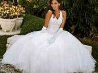 Beautiful wedding dress, shoes and veil for sale!! All