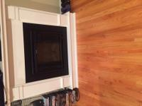 Beautiful White electric fireplace for sale at a great