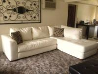 Beautiful white leather sectional only 6 months old