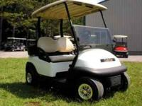 This 2005 golf cart has a 48 Volt electric motor with