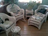 Real wicker furniture set- Includes cushions  Location: