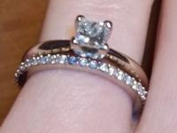 Beautiful white gold Wedding band and engagement ring