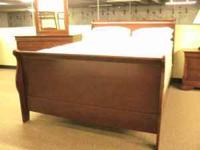 "CHERRY Queen ""SLEIGH"" BED, Nightstand, Dresser &"
